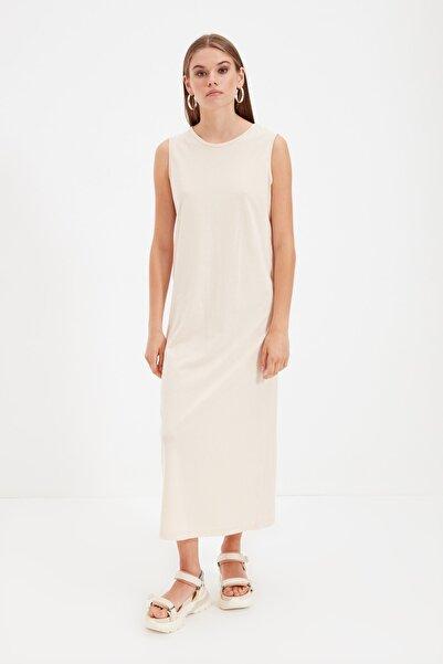 Trendyol Modest Bej Kolsuz Elbise Astarı TCTSS21UK0034