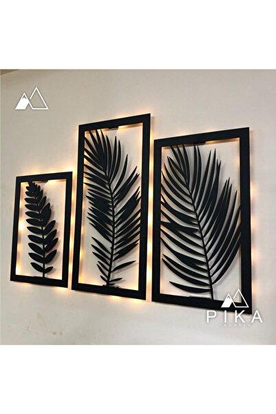 Pika Tasarım Led Işıklı 3 Parça Evrim Ağacı Dekoratif Tablo