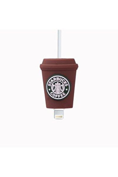 Kahverengi Starbucks'lı Kablo Koruyucu