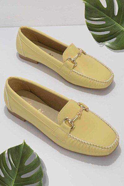 Bambi Sarı Kadın Loafer Ayakkabı K01542030709
