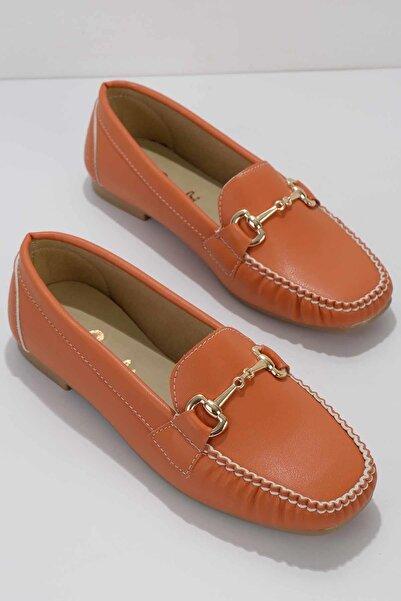 Bambi Turuncu Kadın Loafer Ayakkabı K01542030709