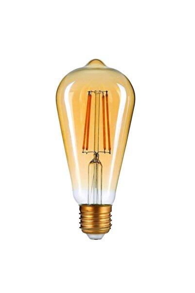 ORBUS St64 Flamanlı 7 Watt 720 Lümen Rustik Led Ampul Amber Cam