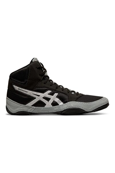 Asics Erkek Siyah Gri Güreş Ayakkabısı