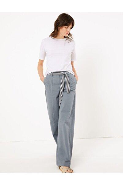 Marks & Spencer Kemerli Wide Leg Chino Pantolon