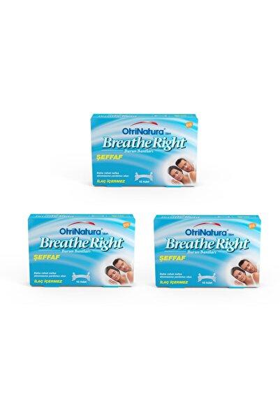 Breathe Right Şeffaf Burun Bandı 10 Adet 3'lü Paket