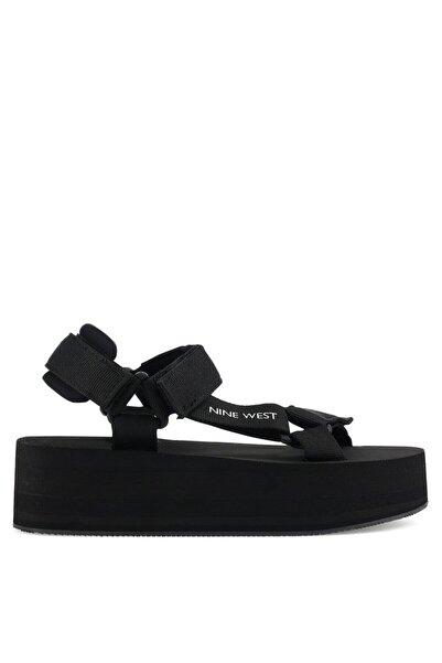 Nine West Lolılla 1fx Siyah Kadın Dolgu Topuk Sandalet