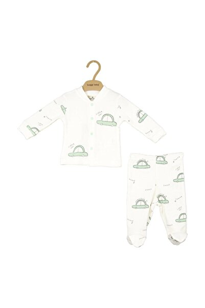 Luggi Baby Organik Patikli Pijama Takımı Lg-6431