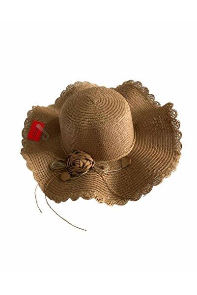 BOOM İTHALAT Kadın Gül Aksesuar Detay Fötr Şapka