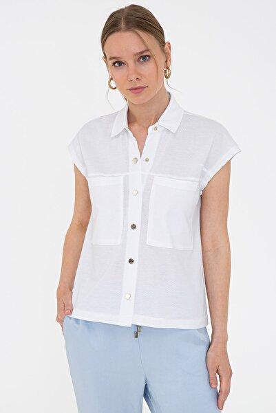 Pierre Cardin Beyaz Kadın T-Shirt G022SZ011.000.1333012
