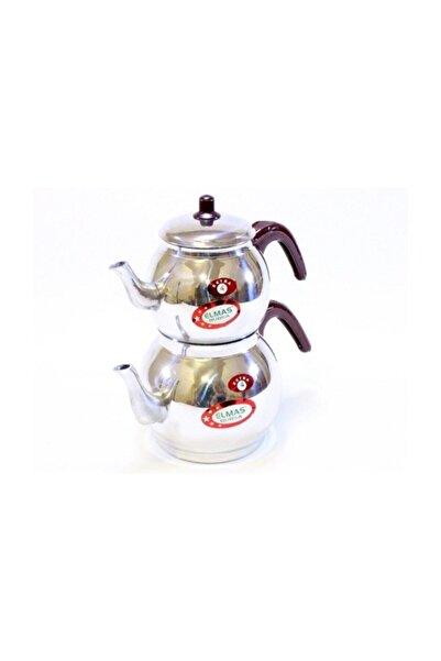 Elmas Home Süzgeçli Alüminyum Çaydanlık Küre Yuvarlak Çaydanlık Mini Boy