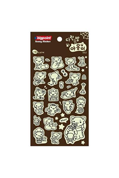 Bigpoint Sticker Fosforlu Hayvanlar 15'li Paket