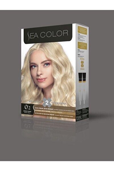Sea Color Kadın Bebek Sarı Saç Boyası 2 Tüplü Set Boya