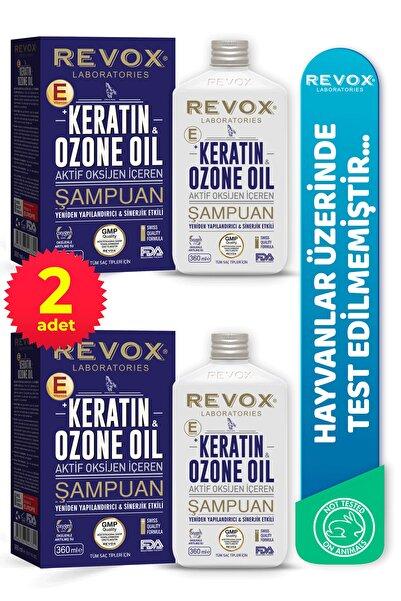 Revox Keratin & Ozon Oil Aktif Oksijen Içeren Saç Bakım Şampuanı 2'li Set