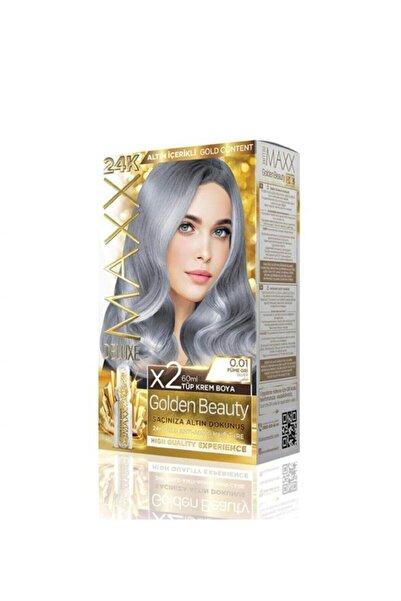 MAXX DELUXE Golden 24k 0.01 Füme Gri Altın Içerikli Saç Boyası