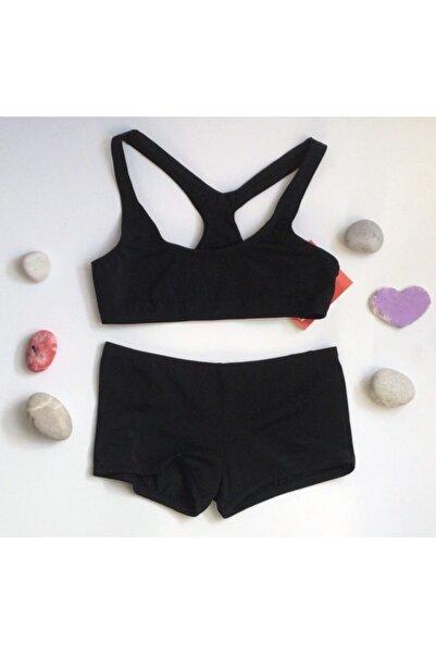 Kom Kız Çocuk Şortlu Sporcu Bikini Takımı