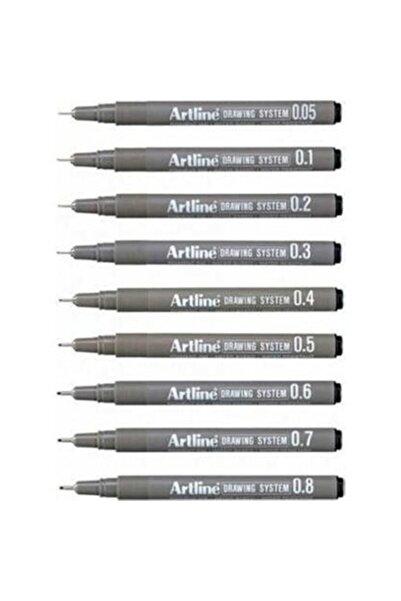 artline Drawing System Teknik Çizim Kalemi 9'lu Set