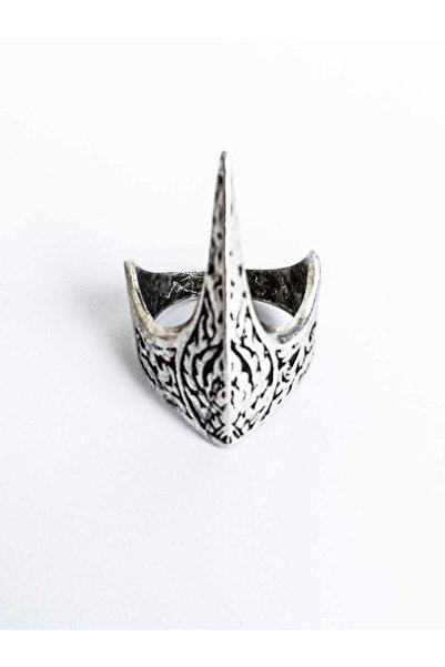 Dolunay Aksesuar Unisex Gümüş Kaplama Antik Eskitme Ayarlanabilir Özel Tasarım Ertuğrul Okçu Zihgir Yüzüğü