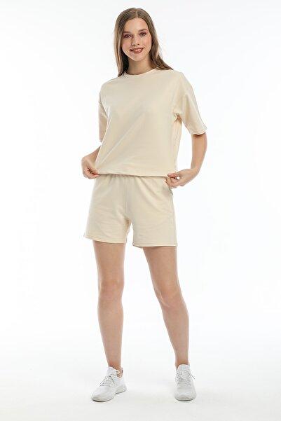 BESSA Oversize Tişört Regular Şort Takım Cepli Basic