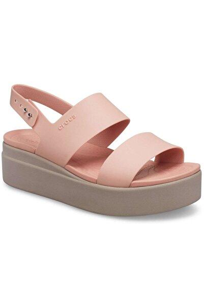 Crocs Brooklyn Low Wedge Pale Blush Sandalet