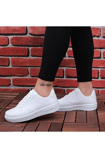 Sedef Kadın Beyaz Spor Ayakkabı