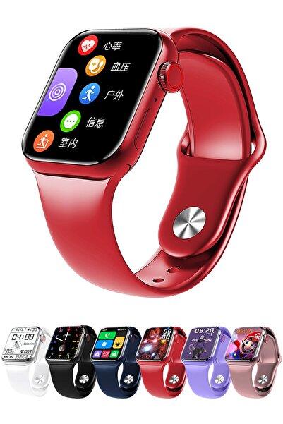 Favors Huawei P30 Lite, P30 Pro Uyumlu Watch 7 Series M26+ Plus Kırmızı Akıllı Saat Güçlendirilmiş Pil