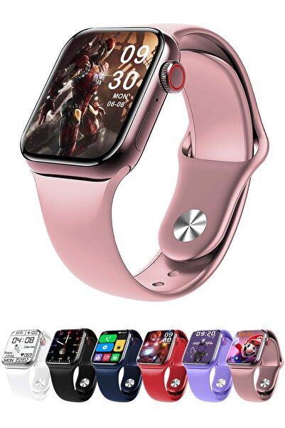Favors Huawei P30 Lite, P30 Pro Uyumlu Watch 7 Series M26+ Plus Pembe Akıllı Saat Güçlendirilmiş Pil