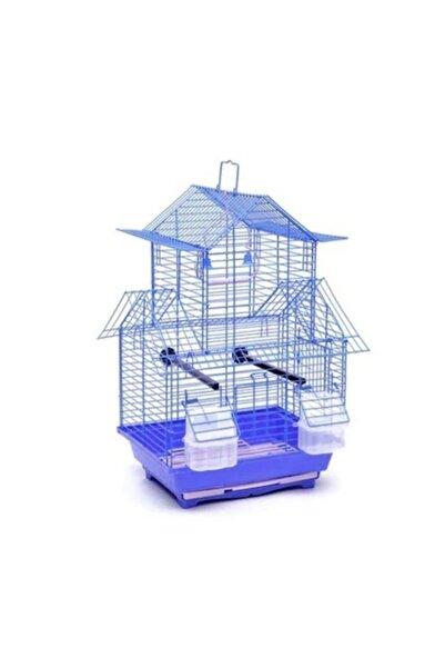 Dayang Çin Evi Renkli Kuş Kafesi 30 Cm X 23 Cm X 46 Cm Mavi