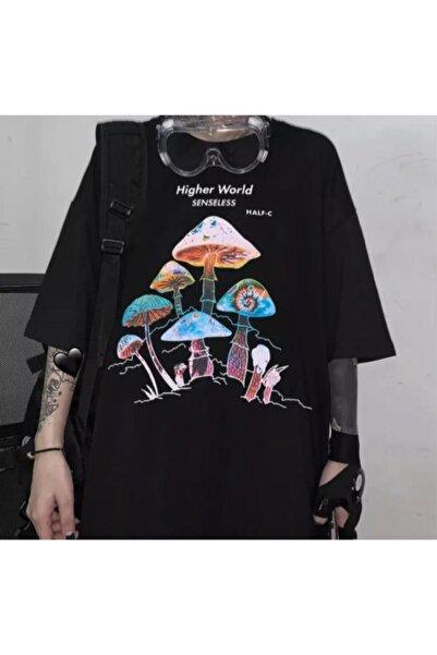 Köstebek Higher World Mushrooms Unisex T-shirt