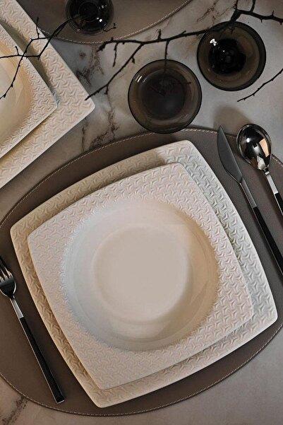 Kütahya Porselen Bone Versa 24 Parça Yemek Seti