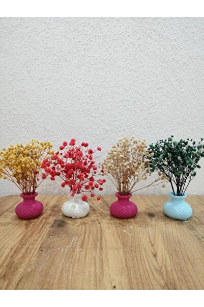 MevaDesign Sunumluk Vazo Takımı 4 Adet Ve Çiçekleri