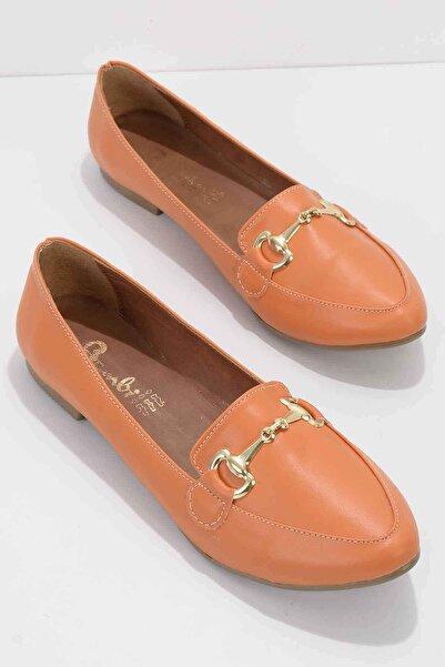 Bambi Turuncu Kadın Loafer Ayakkabı K01702200109
