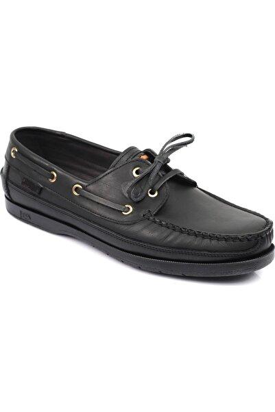 Dexter Tarzı, Içi Dışı Hakiki Deri, Kokulu Taban, Ortopedik Ped Astarlı Siyah Ayakkabı