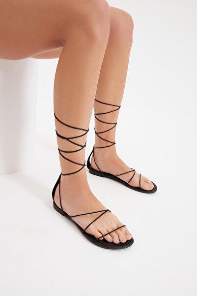 TRENDYOL SHOES Siyah Kadın Sandalet TAKSS21SD0043