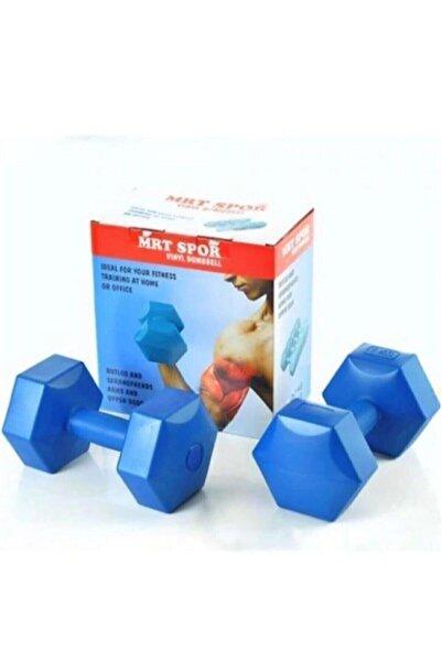 AlanAldı Fitness Spor Dumbell Ağırlık Seti 5 Kg Köşeli Plastik