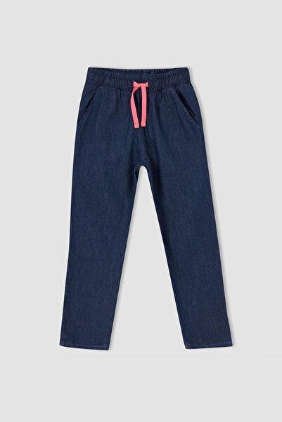 DeFacto Kız Çocuk Mavi Carrot Fit Jean Pantolon