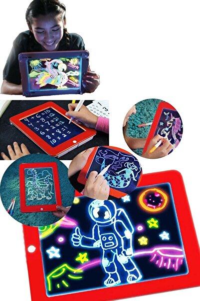 Amasra Sihirli Magic Pad Eğitici Tablet Oyuncak Işıklı Kalemli Pilli Pad