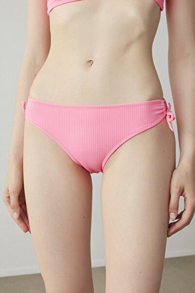 Penti Neon Pembe Ribbed Basic Ring Bikini Altı