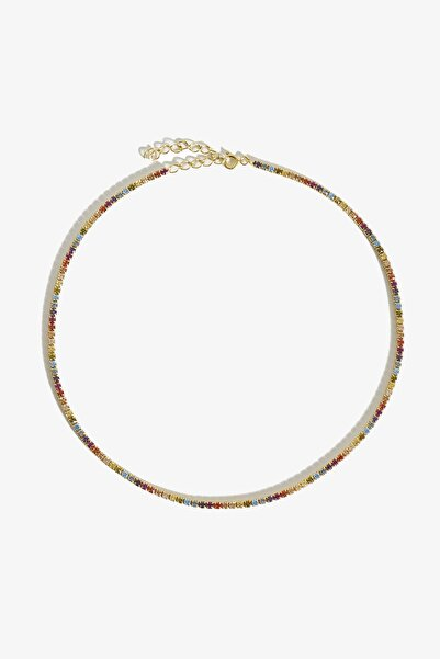 Lapidore Multicolor Tamtur Gold Kolye