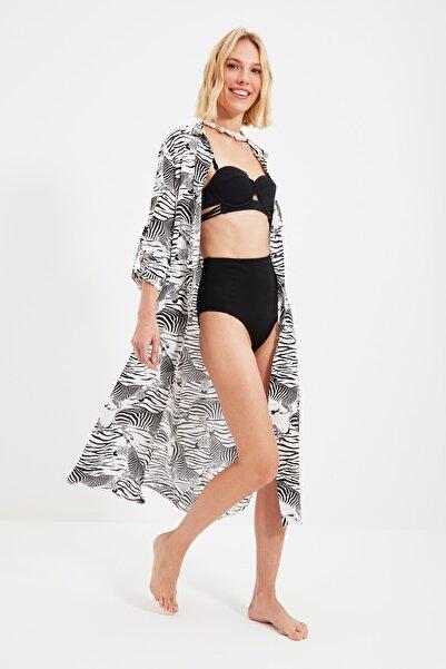 TRENDYOLMİLLA Zebra Desenli Kimono&Kaftan TBESS21KM0146