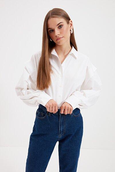 Koton Kadın Beyaz Gömlek 1YAL68163IW