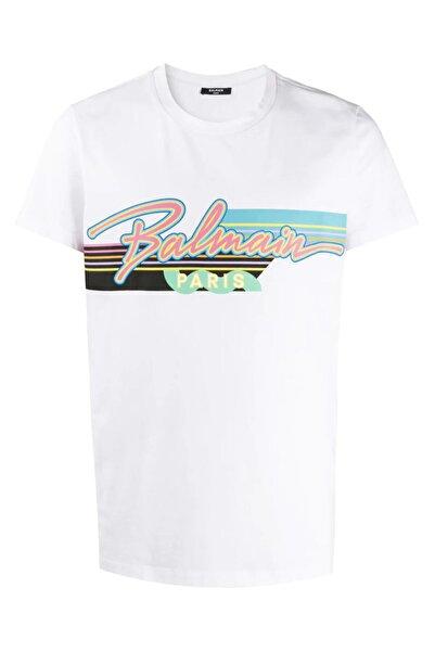 BALMAIN Logo Print Regular Fit T-shirt