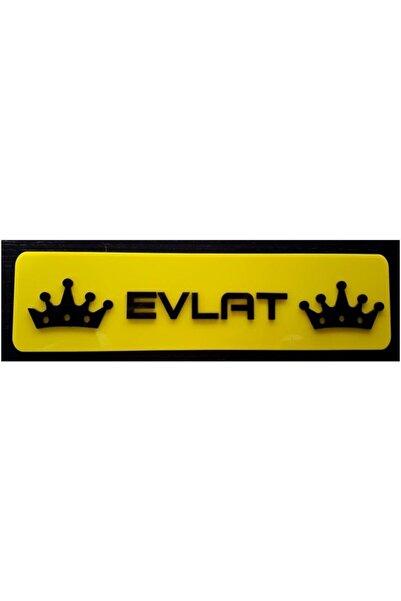 EFL Evlat Dekor Sarı Plaka
