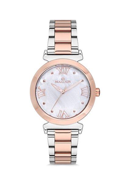 Nacar Marka Kadın Kol Saati Rose Gold  Gümüş