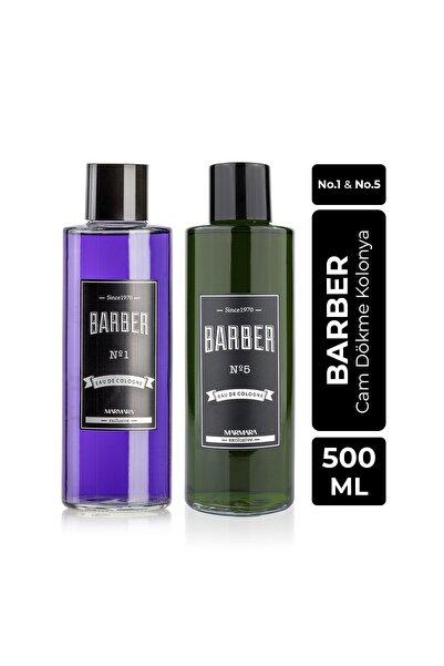 Barber Cam Kolonya Seti 2x500 Ml No.1 Ve No.5
