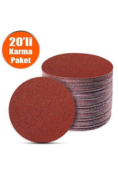 Badem10 20 Adet Cırt Zımpara Spiral Avuç Taşlama 115 Mm (karma Paket)