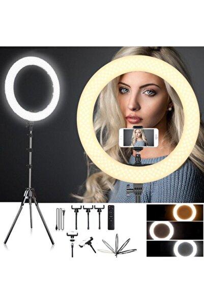 Gringo Profesyonel Kuaför Makyaj Çekimleri 21 Inç Kumandalı Ring Light