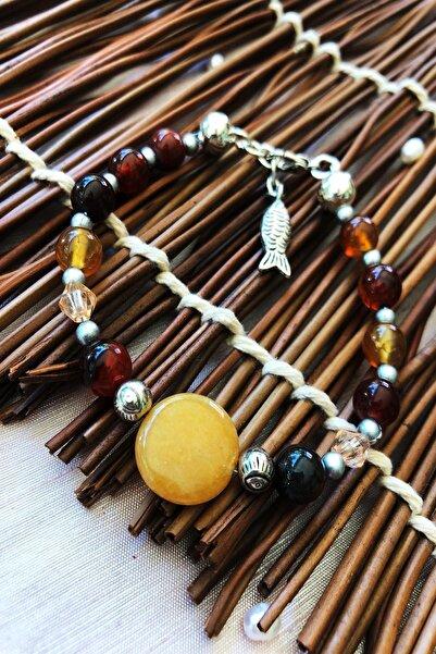Dr. Stone Dr Stone Doğaltaş el yapımı  afrika koleksiyonu Kadın akik taşı Bileklik YAHL12