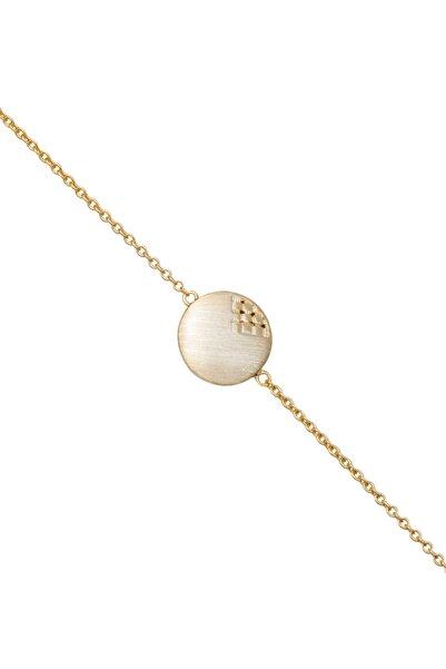 So CHIC... Italyan Stili 18 Ayar Sarı Altın Kaplama Gümüş Bileklik