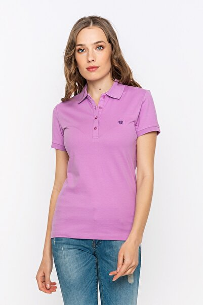 Felix Hardy Regular Fit, Mor, Sade, Logo Detaylı, Kısa Kollu Polo T-shirt