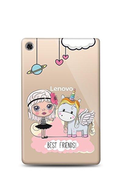 MobilCadde Lenovo Tab M10 Hd (2.nesil) Tb-x306f Uyumlu Best Friends Resimli Kılıf